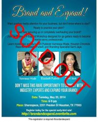 Brand and Expand Workshop Series Launched in Houston!