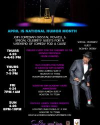 PRESS RELEASE: Charity, Celebrity Events Honor National Humor Month