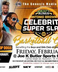 NFL Star Antonio Brown to Host Celebrity Charity Basketball Game During Super Bowl LI